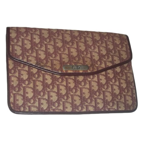 sac pochette en tissu dior rouge 3473356. Black Bedroom Furniture Sets. Home Design Ideas