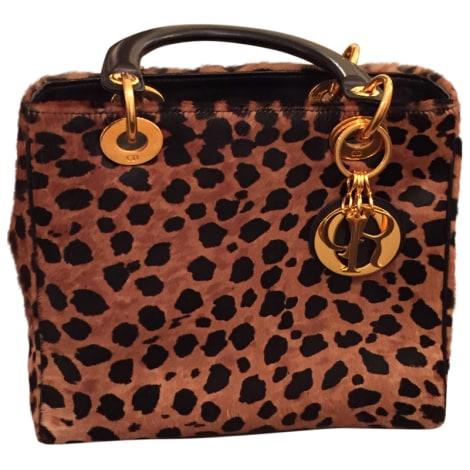 sac en bandouli re en cuir dior poil leopard 3614804. Black Bedroom Furniture Sets. Home Design Ideas