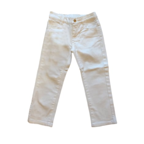 Straight Leg Jeans GUCCI White, off-white, ecru