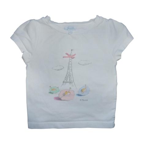 Top, Tee-shirt JACADI Blanc, blanc cassé, écru