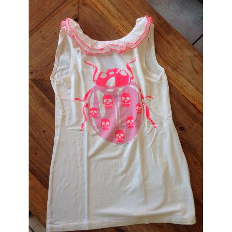 Top, Tee-shirt LITTLE PAUL & JOE Blanc, blanc cassé, écru