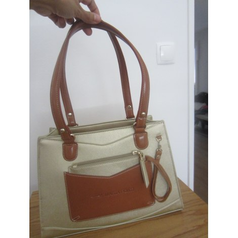Leather Shoulder Bag MARTA PONTI gold and camel new with label sold ... 995bd4e772e