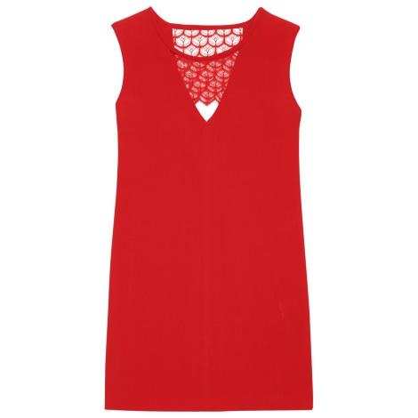 robe dos nu sandro 36 s t1 rouge 3820492. Black Bedroom Furniture Sets. Home Design Ideas