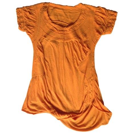 Top, tee-shirt ISSEY MIYAKE Orange