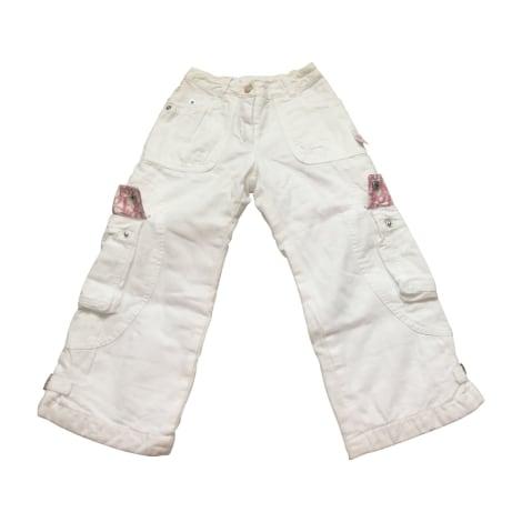 Pantalone BABY DIOR Bianco, bianco sporco, ecru