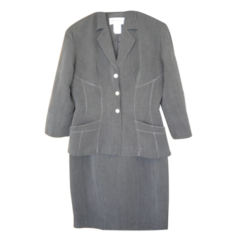 Tailleur jupe THIERRY MUGLER Gris, anthracite