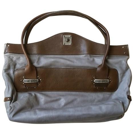 sac main en cuir diesel bleu vendu par happy bear 4018323. Black Bedroom Furniture Sets. Home Design Ideas