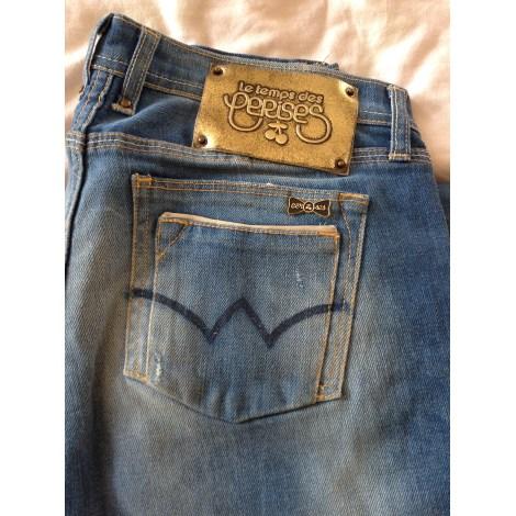 Jeans droit LE TEMPS DES CERISES Bleu, bleu marine, bleu turquoise