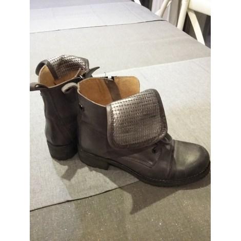Bottines & low boots plates LOLLIPOPS Gris, anthracite