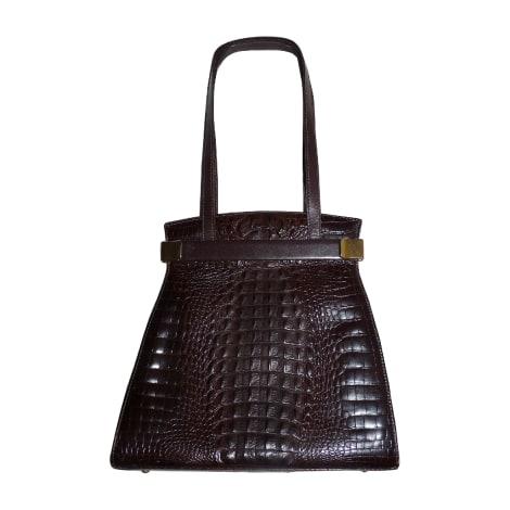 sac en bandouli re en cuir renouard marron 4295310. Black Bedroom Furniture Sets. Home Design Ideas