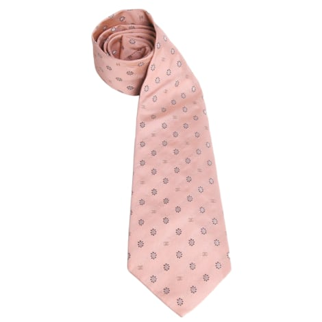 Cravate CHANEL Rose, fuschia, vieux rose