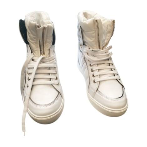 Baskets MONCLER Blanc, blanc cassé, écru
