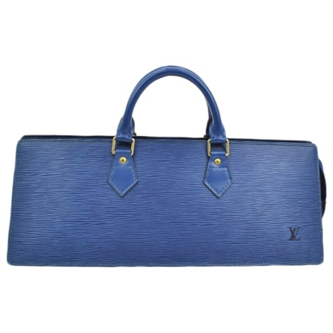 Leather Handbag LOUIS VUITTON blue vendu par Batchik