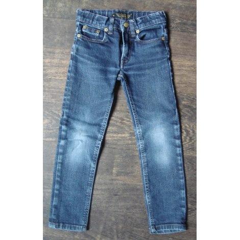 Pantalon FINGER IN THE NOSE bleu jean