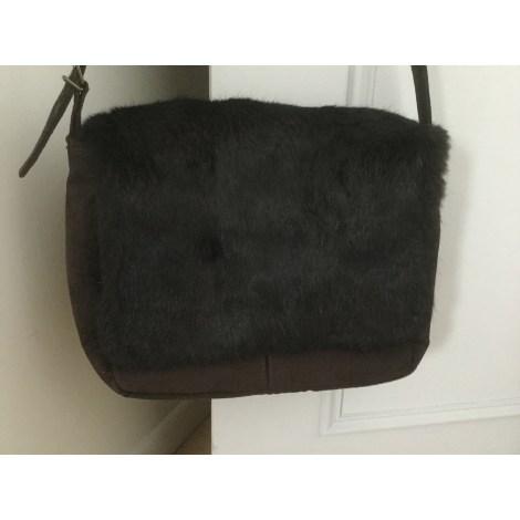 borsa a tracolla in pelle minelli marrone 4463181. Black Bedroom Furniture Sets. Home Design Ideas