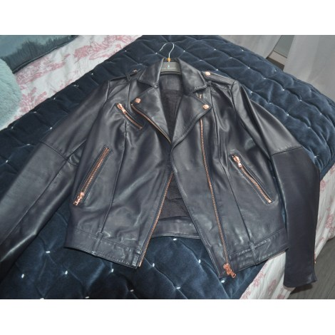 44adb22d01 Kookai. Leather Zipped Jacket. 36 (S ...