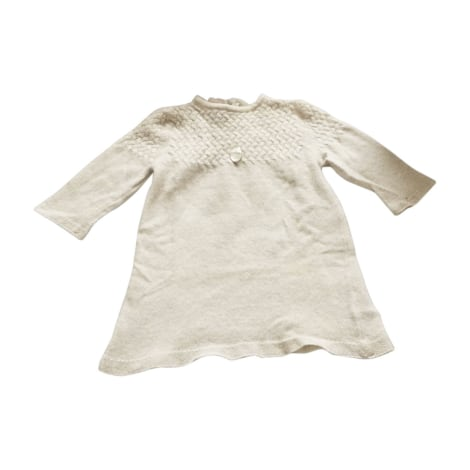 Dress BABY DIOR White, off-white, ecru