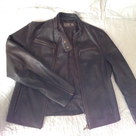 Veste en cuir CAROLL 38 (M, T2) marron vendu par Marieca163459 - 4744229 4c1e43c5097