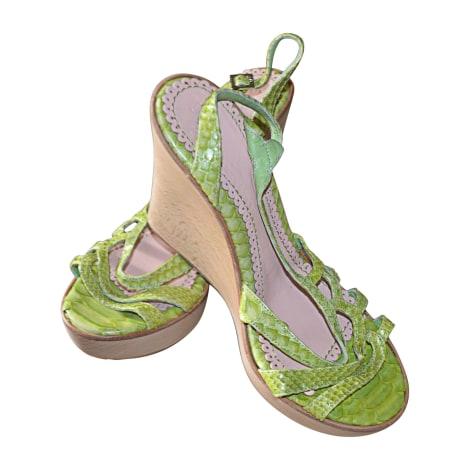 Sandales compensées JOHN GALLIANO Vert