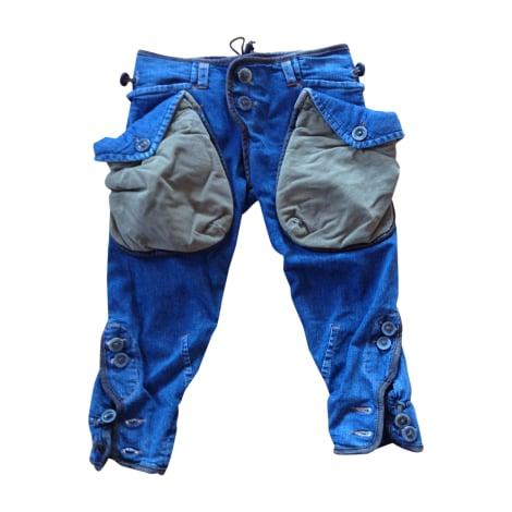 Pantalon droit DSQUARED2 Bleu denim, marron cuir