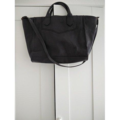 sac main en cuir zara noir 4843840. Black Bedroom Furniture Sets. Home Design Ideas