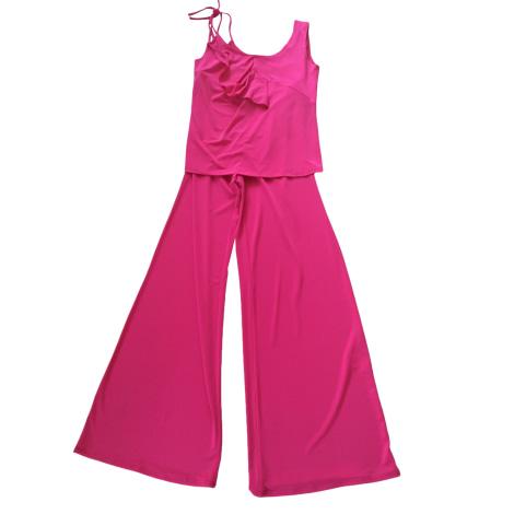 Tailleur pantalon CHACOK Rose, fuschia, vieux rose