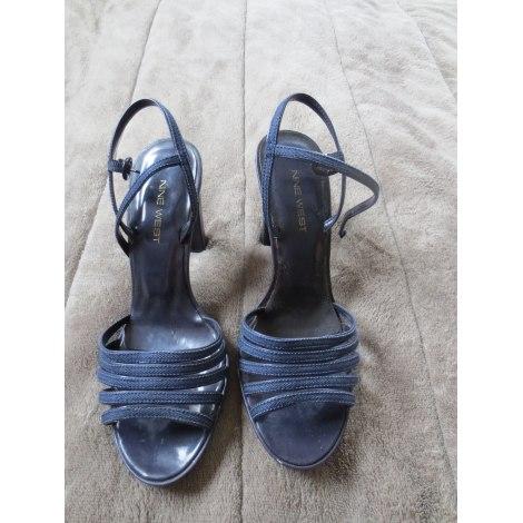 Sandales à talons NINE WEST Bleu, bleu marine, bleu turquoise