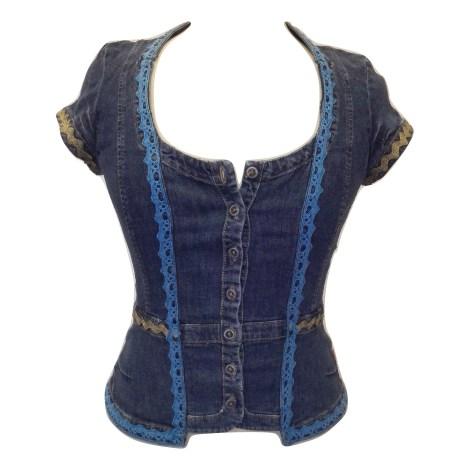 Top, tee-shirt CHRISTIAN LACROIX Bleu, bleu marine, bleu turquoise
