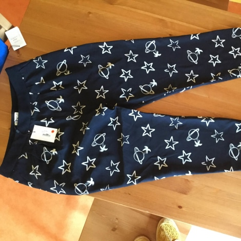 Pantalon carotte CLAUDIE PIERLOT Bleu, bleu marine, bleu turquoise