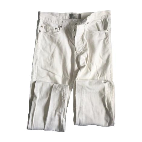 Jeans slim DIOR HOMME Blanc, blanc cassé, écru
