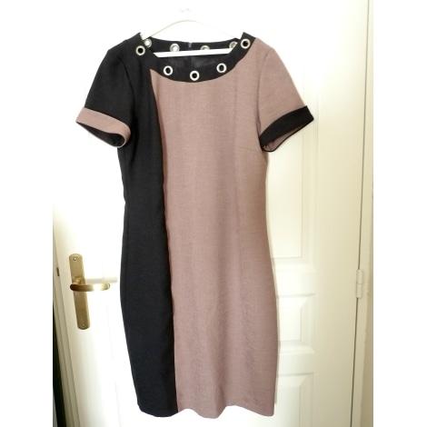 robe mi longue un jour ailleurs 40 l t3 marron 5200662. Black Bedroom Furniture Sets. Home Design Ideas