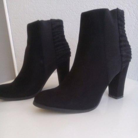 Low Noir Boots Bottines 5208826 amp; 37 À Talons Cache O56A6q