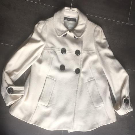 Manteau ZARA Blanc, blanc cassé, écru