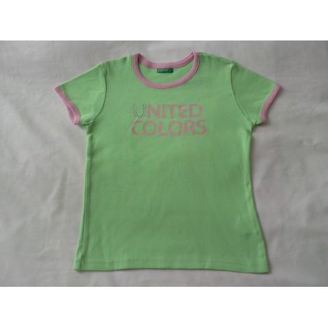 Top, Tee-shirt BENETTON Vert