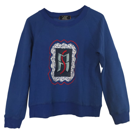 Michel Uomo Felpa Shirt Sweat St Blu L Mont Le navy gfHq6