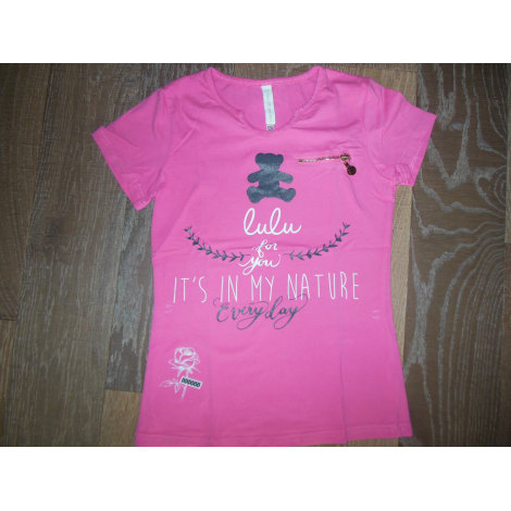 Top, Tee-shirt LULU CASTAGNETTE Rose, fuschia, vieux rose