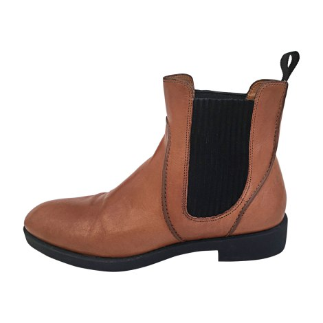Bottines & low boots plates MARC BY MARC JACOBS Beige, camel