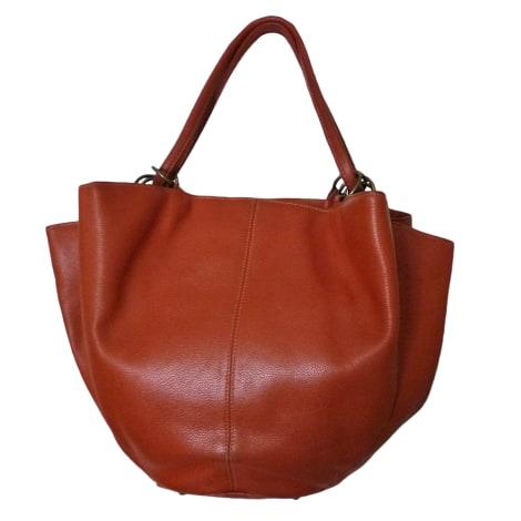 sac en bandouli re en cuir renouard orange vendu par castine 5442773. Black Bedroom Furniture Sets. Home Design Ideas