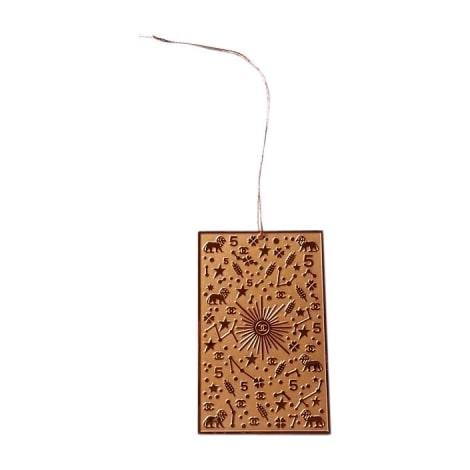 Keyring CHANEL Golden, bronze, copper