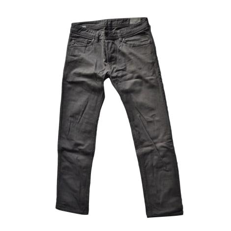 Pantalon droit DIESEL Gris, anthracite