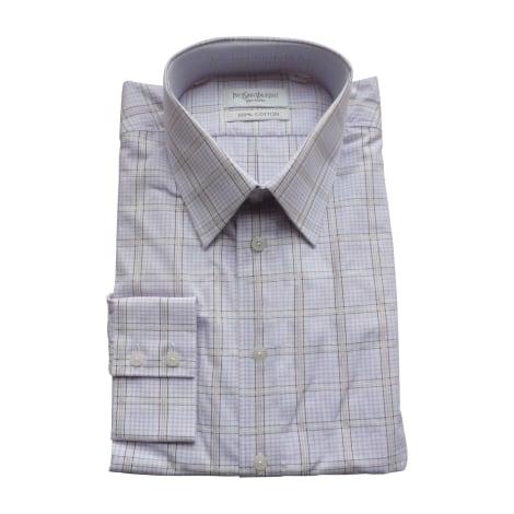 chemise yves saint laurent 43 44 xl blanc vendu par. Black Bedroom Furniture Sets. Home Design Ideas