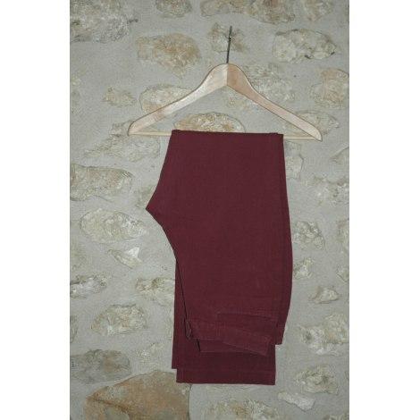Pantalon droit GAP Rouge, bordeaux