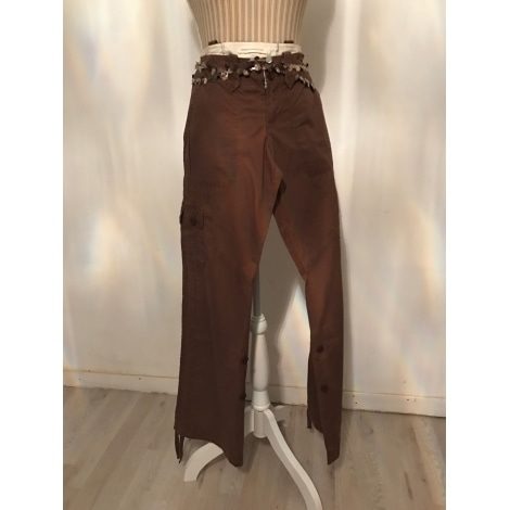 Pantalon droit ABERCROMBIE & FITCH Marron