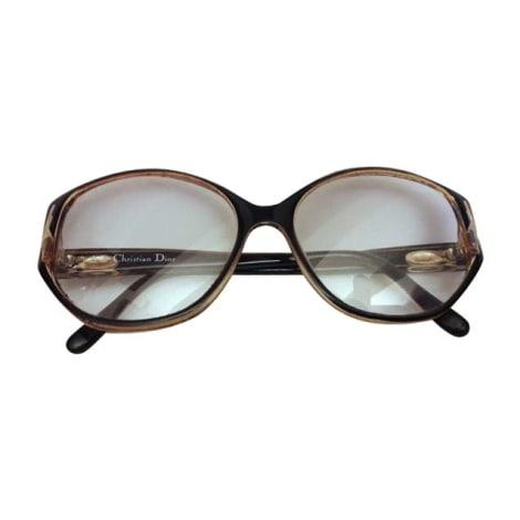 Monture de lunettes DIOR noir marron doré
