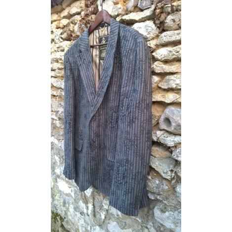Veste SCOTCH & SODA gris anthracite, rayures blanches