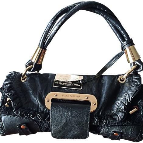 leather handbag dolce gabbana black vendu par marjorie162895 5748670. Black Bedroom Furniture Sets. Home Design Ideas