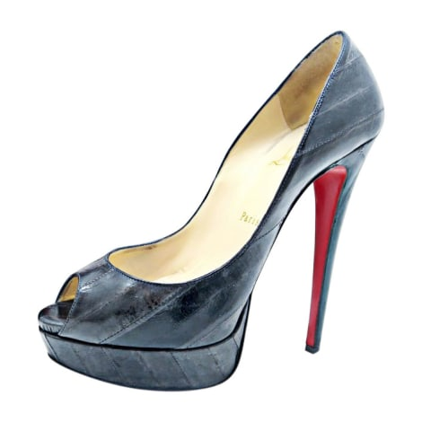 Peep-Toe Pumps CHRISTIAN LOUBOUTIN Gray, charcoal