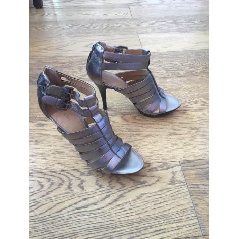 Sandales à talons NINE WEST Argenté, acier