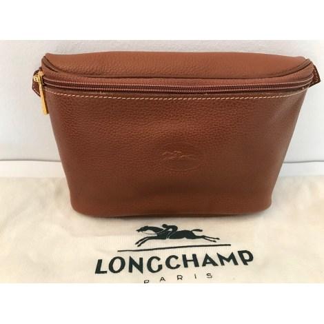 Longchamp Cuir Marron Pochette Sac Clair Par Vendu Elisabethn En KJclF1