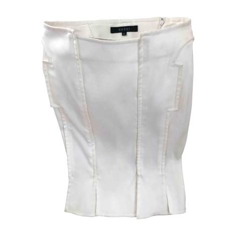 Midi Skirt GUCCI White, off-white, ecru